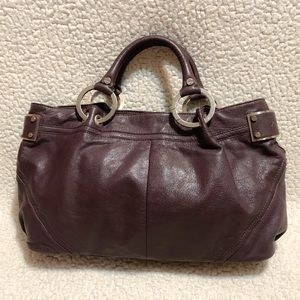 Kenneth Cole New York Leather Satchel.